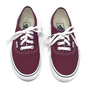 Vans Authentic Burgundy Canvas Skate Shoes 6.5
